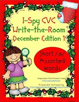 I-Spy CVC Tiny Words - Short /a/ Assorted Words (December Edition) Set 1