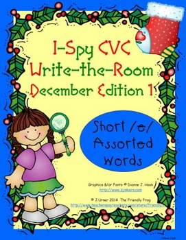 I-Spy CVC Tiny Words - Short /e/ Assorted Words (December Edition) Set 1