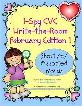 I-Spy CVC Tiny Words - Short /e/ Assorted Words (February Edition) Set 1