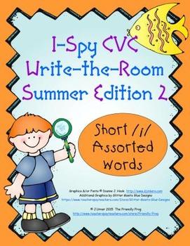 I-Spy CVC Tiny Words - Short /i/ Assorted Words (Summer Edition) Set 2