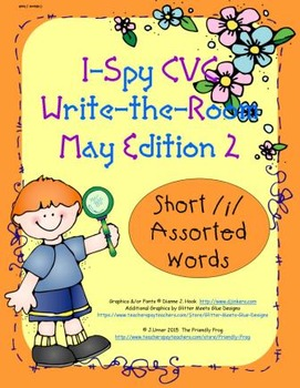 I-Spy CVC Tiny Words - Short /i/ Assorted Words (May Edition) Set 2