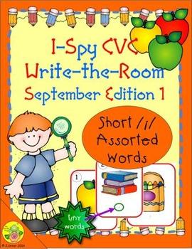I-Spy CVC Tiny Words - Short /i/ Assorted Words (September Edition) Set 1