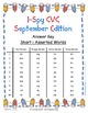 I-Spy CVC Tiny Words - Short /i/ Assorted Words (Sept. Edi