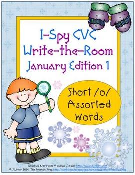 I-Spy CVC Tiny Words - Short /o/ Assorted Words (Jan. Edition) Set 1