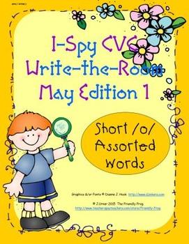 I-Spy CVC Tiny Words - Short /o/ Assorted Words (May Edition) Set 1
