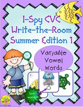 I-Spy CVC Tiny Words - Variable Vowel Words (Summer Edition) Set 1