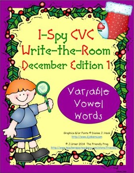 I-Spy CVC Tiny Words - Variable Vowel Words (December Edition) Set 1