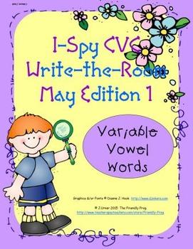 I-Spy CVC Tiny Words - Variable Vowel Words (May Edition) Set 1