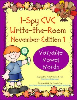 I-Spy CVC Tiny Words - Variable Vowel Words (November Edition) Set 1
