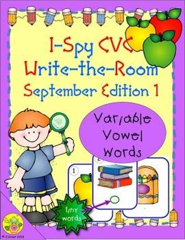 I-Spy CVC Tiny Words - Variable Vowel Words (Sept. Edition) Set 1