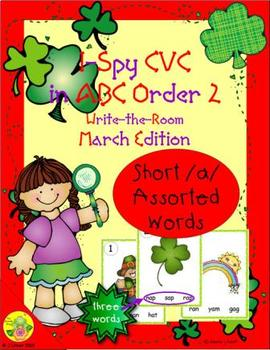 I-Spy CVC in ABC Order - Short /a/ Assorted Words (March Edition) Set 2