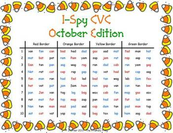 I-Spy CVC in ABC Order - Short /a/ Assorted Words (October Edition) Set 2
