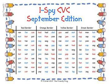 I-Spy CVC in ABC Order - Short /a/ Assorted Words (September Edition) Set 2