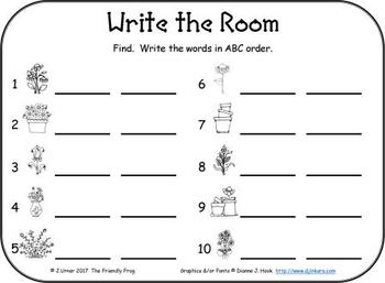 I-Spy CVC in ABC Order - Short /e/ Assorted Words (April Edition)