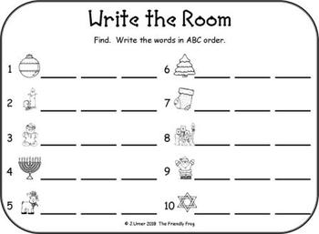I-Spy CVC in ABC Order - Short /e/ Assorted Words (December Edition) Set 2