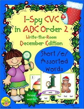 I-Spy CVC in ABC Order - Short /e/ Assorted Words (December Edition) Set 2