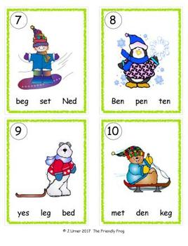 I-Spy CVC in ABC Order - Short /e/ Assorted Words (January Edition) Set 2