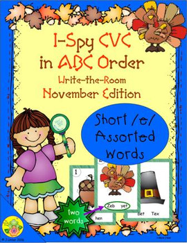 I-Spy CVC in ABC Order - Short /e/ Assorted Words (November Edition)