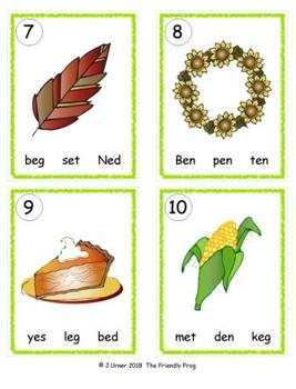 I-Spy CVC in ABC Order - Short /e/ Assorted Words (November Edition) Set 2