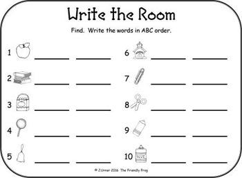 I-Spy CVC in ABC Order - Short /e/ Assorted Words (September Edition) Set 1