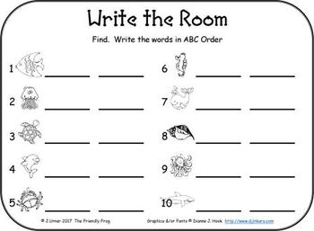 I-Spy CVC in ABC Order - Short /e/ Assorted Words (Summer Edition)