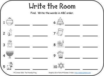I-Spy CVC in ABC Order - Short /i/ Assorted Words (December Edition)