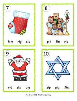 I-Spy CVC in ABC Order - Short /i/ Assorted Words (December Edition) Set 2