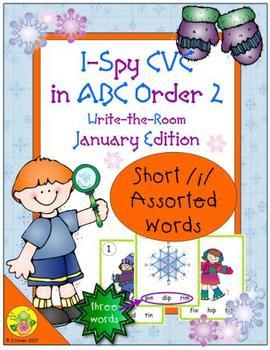 I-Spy CVC in ABC Order - Short /i/ Assorted Words (January Edition) Set 2