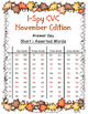 I-Spy CVC in ABC Order - Short /i/ Assorted Words (November Edition)