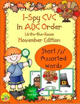 I-Spy CVC in ABC Order - Short /i/ Assorted Words (November Edition)