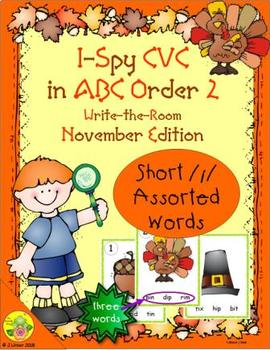 I-Spy CVC in ABC Order - Short /i/ Assorted Words (November Edition) Set 2