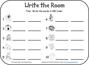 I-Spy CVC in ABC Order - Short /i/ Assorted Words (October Edition) Set 1