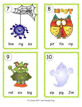 I-Spy CVC in ABC Order - Short /i/ Assorted Words (October Edition) Set 2