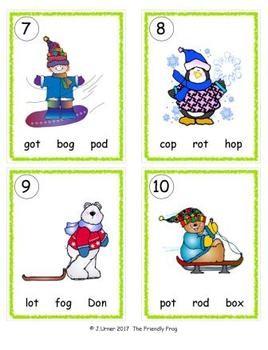 I-Spy CVC in ABC Order - Short /o/ Assorted Words (January Edition) Set 2