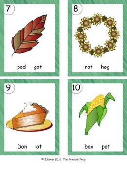 I-Spy CVC in ABC Order - Short /o/ Assorted Words (November Edition)