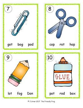 I-Spy CVC in ABC Order - Short /o/ Assorted Words (September Edition) Set 2