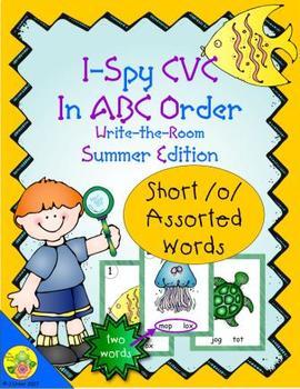I-Spy CVC in ABC Order - Short /o/ Assorted Words (Summer Edition)