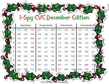 I-Spy CVC in ABC Order - Short /u/ Assorted Words (December Edition) Set 2