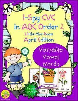 I-Spy CVC in ABC Order - Variable Vowel Words (April Edition) Set 2
