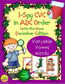 I-Spy CVC in ABC Order - Variable Vowel Words (December Edition)