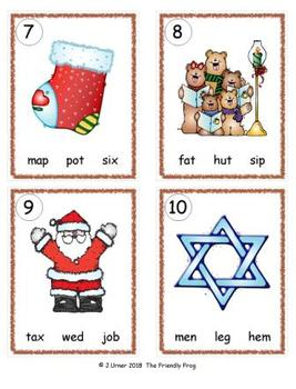 I-Spy CVC in ABC Order - Variable Vowel Words (December Edition) Set 2