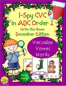 I-Spy CVC in ABC Order - Variable Vowel Words (December Edition) Set 2