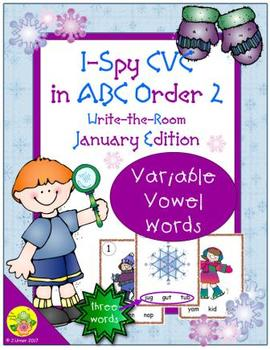 I-Spy CVC in ABC Order - Variable Vowel Words (January Edition) Set 2