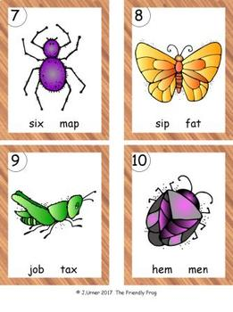 I-Spy CVC in ABC Order - Variable Vowel Words (May Edition)