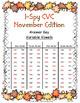 I-Spy CVC in ABC Order - Variable Vowel Words (November Edition)
