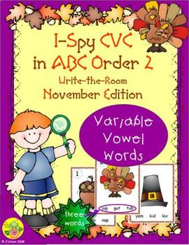 I-Spy CVC in ABC Order - Variable Vowel Words (November Edition) Set 2