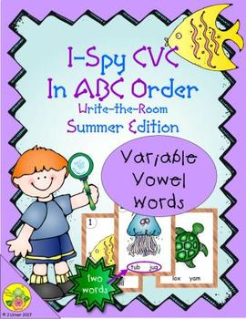 I-Spy CVC in ABC Order - Variable Vowel Words (Summer Edition)
