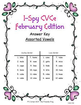 I-Spy CVCe Match-Up - Assorted Vowels (February Edition)