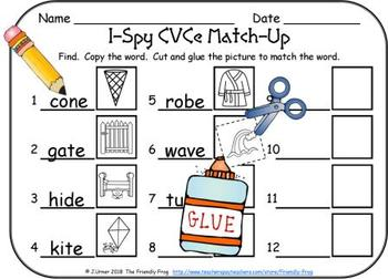 I-Spy CVCe Match-Up - Assorted Vowels (March Edition)