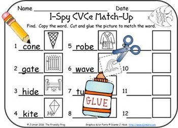 I-Spy CVCe Match-Up - Assorted Vowels (May Edition)